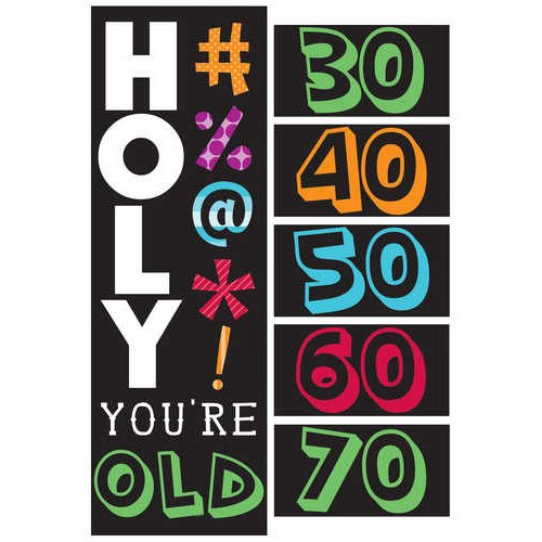 Holy Bleep Party Banner with Milestone Stickers