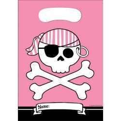Pirate Parrty Pink Loot Bags