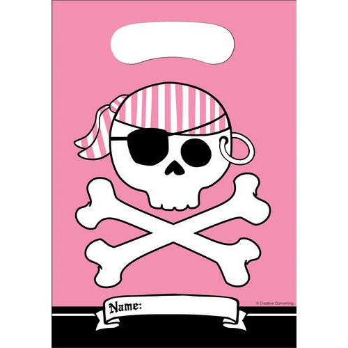 Pirate Parrty Pink Loot Bag