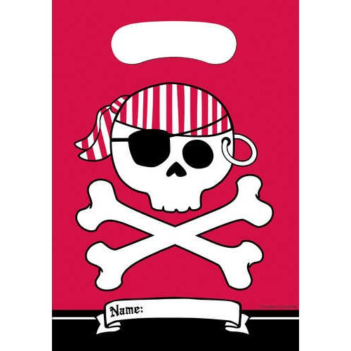 Pirate Parrty Red Loot Bag