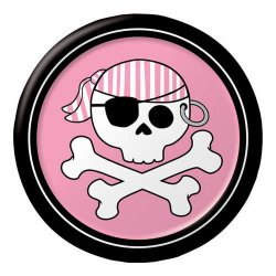 Pirate Parrty Pink 6.75