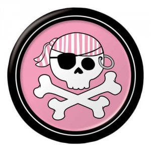 "Pirate Parrty Pink 6.75"" Luncheon Plates"