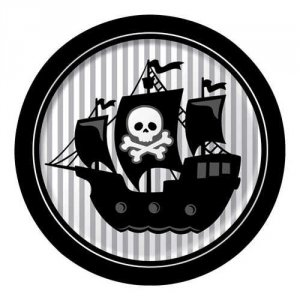 "Pirate Parrty 8.75"" Dinner Plates"