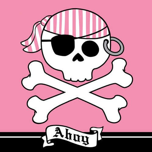 Pirate Parrty Pink Luncheon Napkins