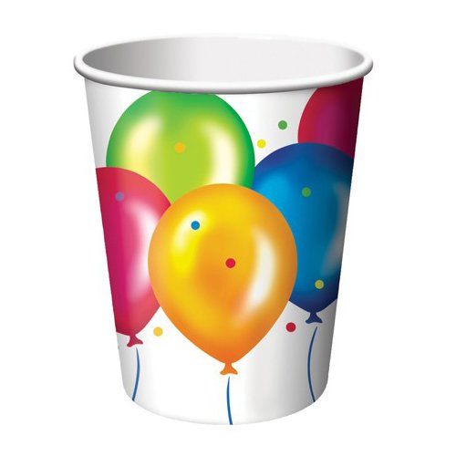Birthday Balloons 9 oz. Cup