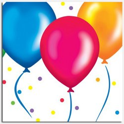 Birthday Balloons Beverage Napkins