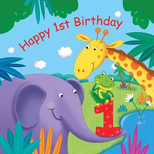 Jungle Buddies Quot Happy 1st Birthday Quot Luncheon Napkins