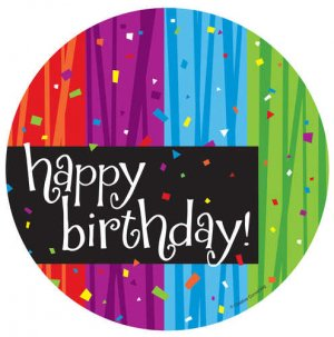 "Celebrate ""Happy Birthday"" 6.75"" Luncheon Plates"