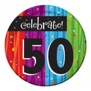 "Celebrate 50th Birthday 6.75"" Luncheon Plates"