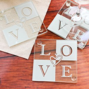 Glass Love Coasters