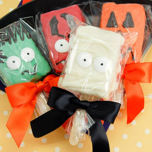 Halloween Character Rice Krispy Treat Pops