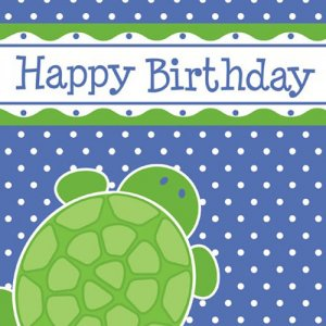 Turtle Birthday Luncheon Napkins