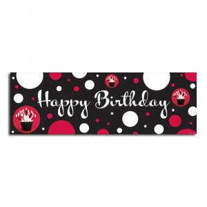 Cupcake Blowout Party Banner