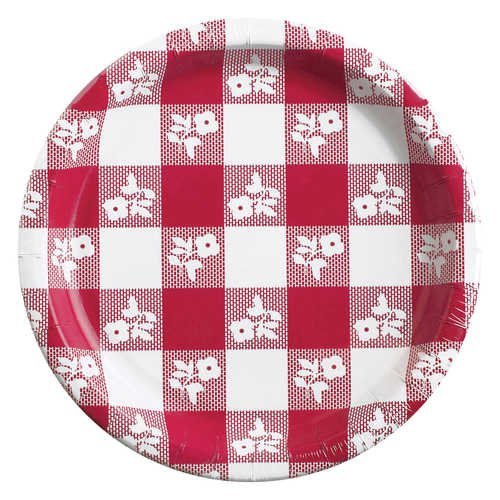 Red Gingham 6.75