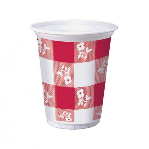 Red Gingham 16 oz. Printed Plastic Cup