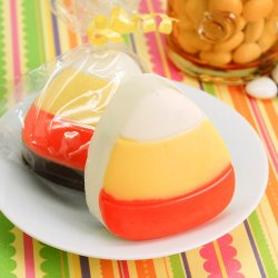 Candy Corn Design Chocolate Covered Oreo Cookie