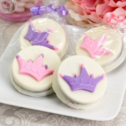 Princess Crown Design White Chocolate Covered Oreo Cookie