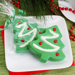 Christmas Tree Design Chocolate Covered Oreo Cookie