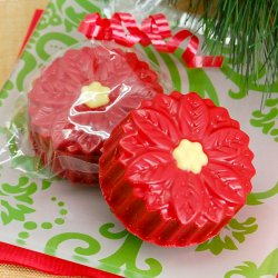 Poinsettia Design Chocolate Covered Oreo Cookie