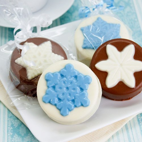 Snowflake Design Chocolate Covered Oreo Cookies