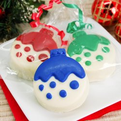 Ornament Design White Chocolate Covered Oreo Cookie