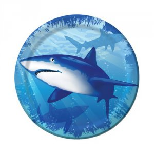 "Shark Splash 6.75"" Luncheon Plates"