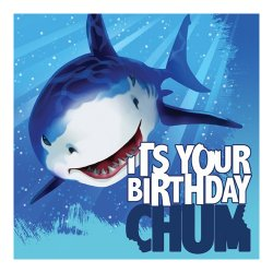 Shark Splash Birthday Luncheon Napkins