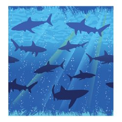Shark Splash Tablecover