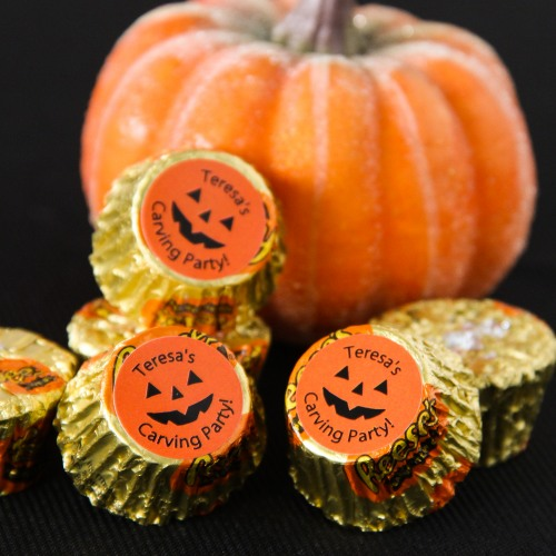Personalized Pumpkin Halloween Reese's Cups