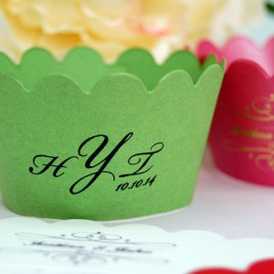 Personalized Monogram Cupcake Wrappers