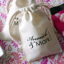 Personalized Monogram Natural Cotton Favor Bags