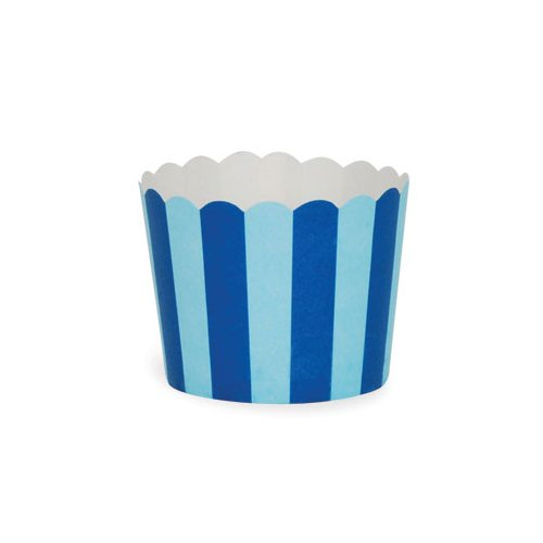 Blue Bold Stripes Baking Cup