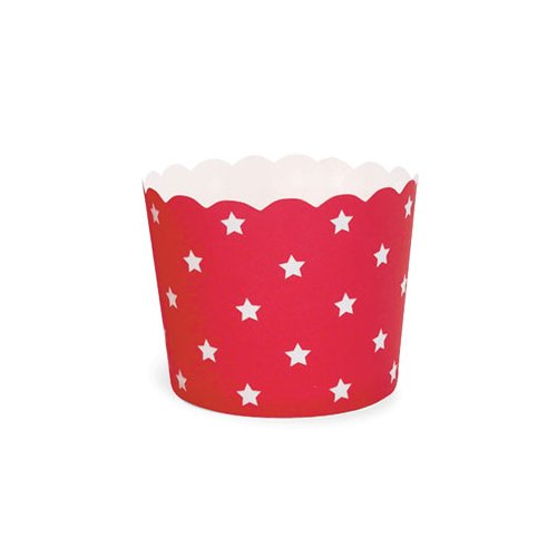 Red Stars Baking Cup