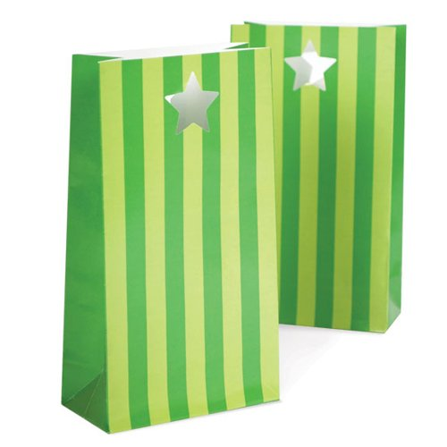 Apple Green Bold Stripes Party Bags