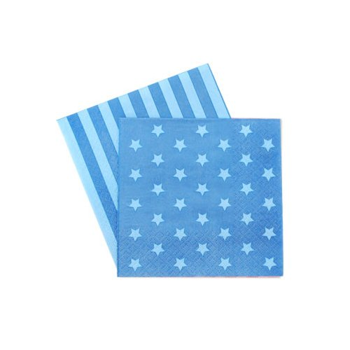 Blue Stars And Stripes Paper Napkins