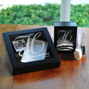 Personalized Shadow Box Unity and Keepsake Set