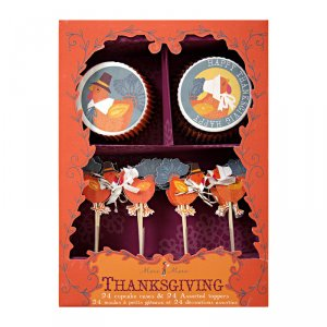Turkey with Hats Cupcake Kit