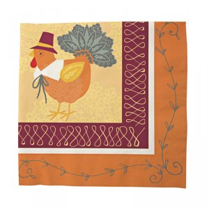 Turkey with Hats Napkins