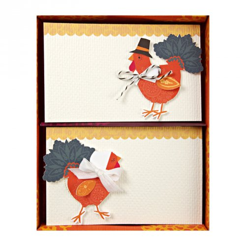 Turkey with Hats Place Card