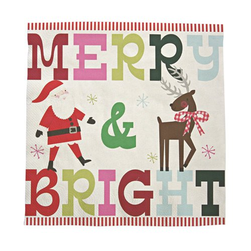 Merry & Bright Napkin (front)