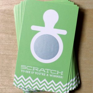 Baby Pacifier Scratch Cards Game
