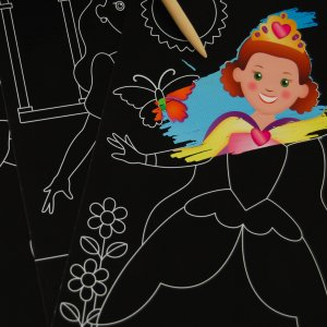 Scratch Art Color-Reveal Princess Pictures