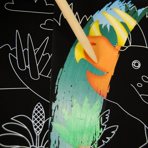 Scratch Art Color-Reveal Dinosaur Picture