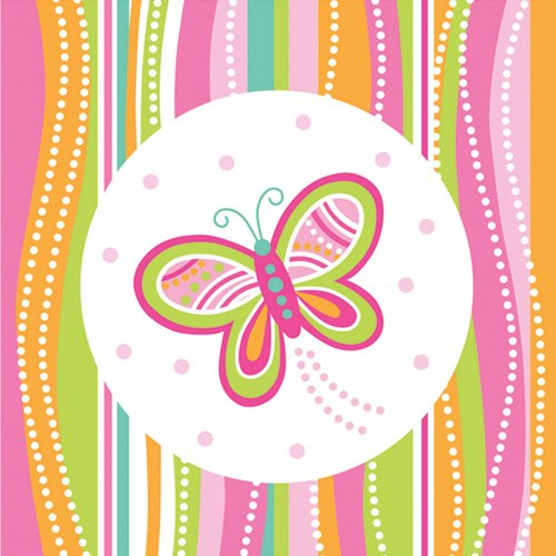 Mod Butterfly Luncheon Napkins