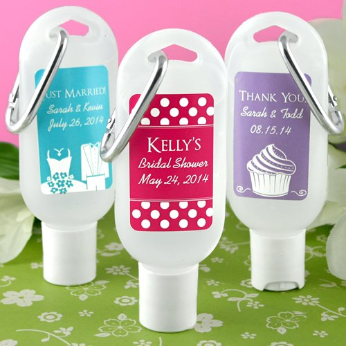 Wedding Silhouette Personalized Hand Sanitizer