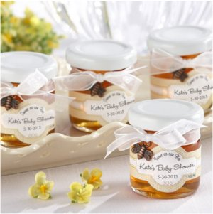 """Sweet as can Bee"" Mini Personalized Honey Jars"