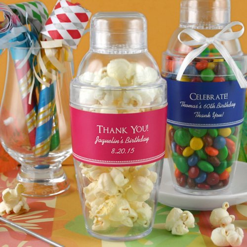 Personalized Birthday Cocktail Shaker Favor