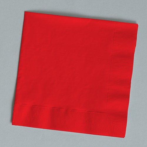 Classic Red Beverage Napkin