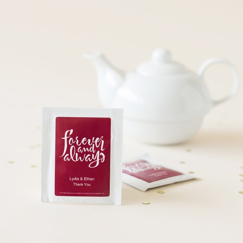 Personalized Silhouette Tea Bag Favors