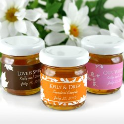 Personalized Silhouette Collection Honey Jar Favors